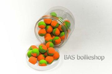 Two Tone Pop Ups 15mm Oranje-Groen (40stuks)