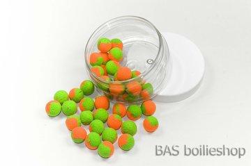 Two Tone Pop Ups 10mm Oranje-Groen (40stuks)