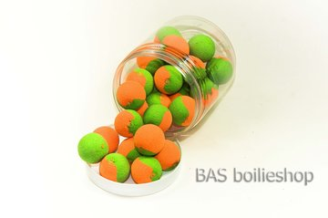Two Tone Pop Ups 20mm Oranje-Groen (25stuks)