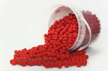 Ready's Mini boilies 8mm 750gr in emmer Squid Rood