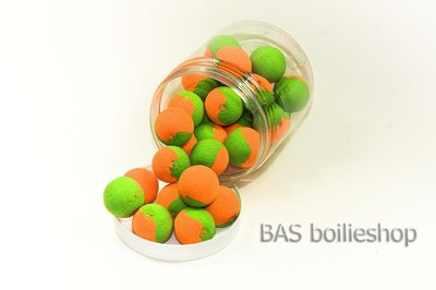Two Tone Pop Ups 20mm Oranje-Groen (25stuks)