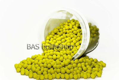 Ready's Mini boilies 8mm 750gr in emmer Sweet Scopex Geel