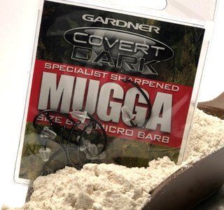 Gardner Specialist Hand Sharpened Covert Dark Continental Mugga Hooks Barbed size 6